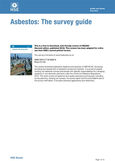Asbestos: The survey guide HSG264