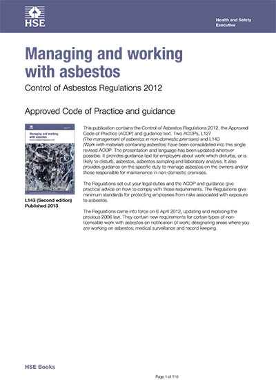 Managing and working with asbestos